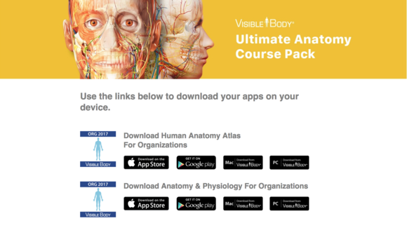 Installing Course Pack Reference Apps – Visible Body